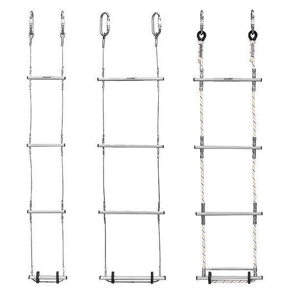 Escalera enrollable de cable o cuerda longitud de 5 a 11m for Escalera 9 escalones