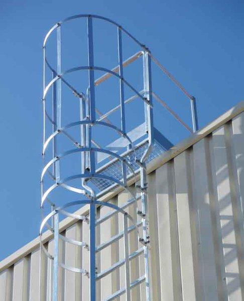 Salida escalera para peto 150 350mm equipo vertical for Normas de seguridad para escaleras fijas