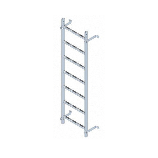 Escaleras fijas modulares con o sin aros quitamiedos for Que es una escalera