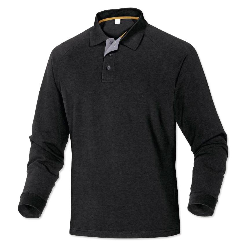 fd2129849d Polo de trabajo con manga larga TURINO 100% algodón