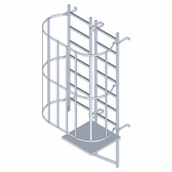 Plataforma de descanso intermedia para escaleras fijas for Normas de seguridad para escaleras fijas