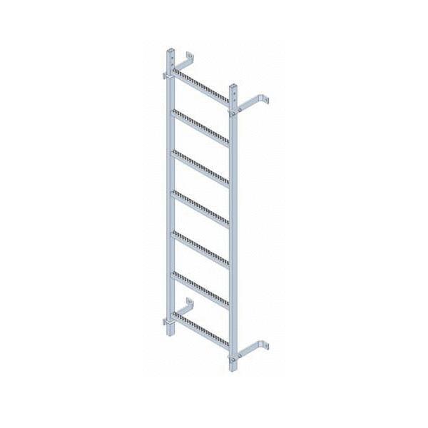 Escaleras fijas modulares con o sin aros quitamiedos for Apliques para subida de escalera