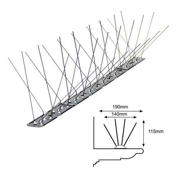 Pinchos antipalomas por anchura de protecci n - Pinchos para palomas ...